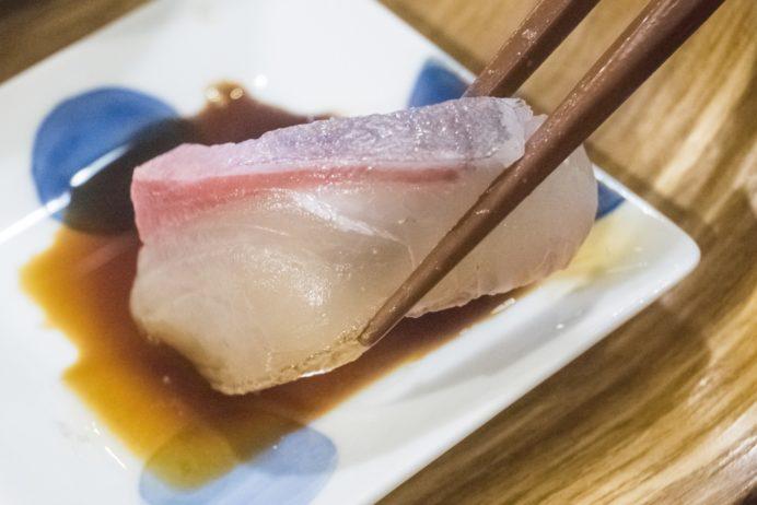バラモン食堂(長崎市万屋町)、五島うどん居酒屋の刺身定食