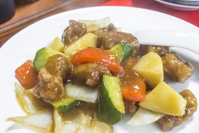 中華料理 永楽苑(長崎市江戸町)の酢豚(スーパイコ)