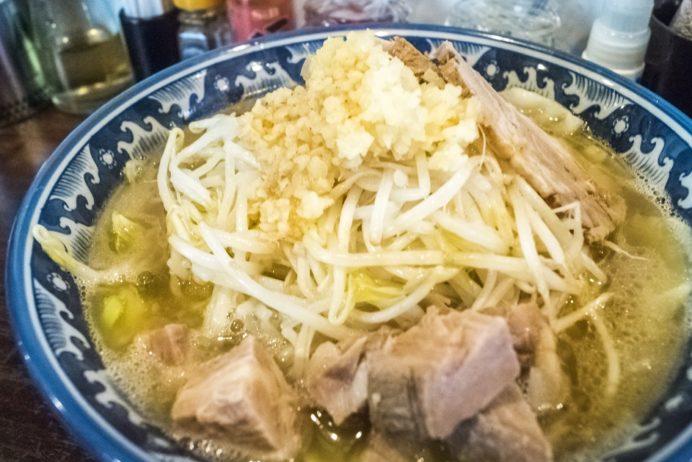 らーめん家 政(長崎市大黒町、長崎駅そば)、野菜がっつりラーメン